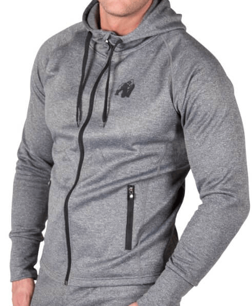 Gorilla Wear Bridgeport Zipped Hoodie - dark grey