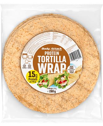 Body Attack Protein Tortilla Wraps - 280g