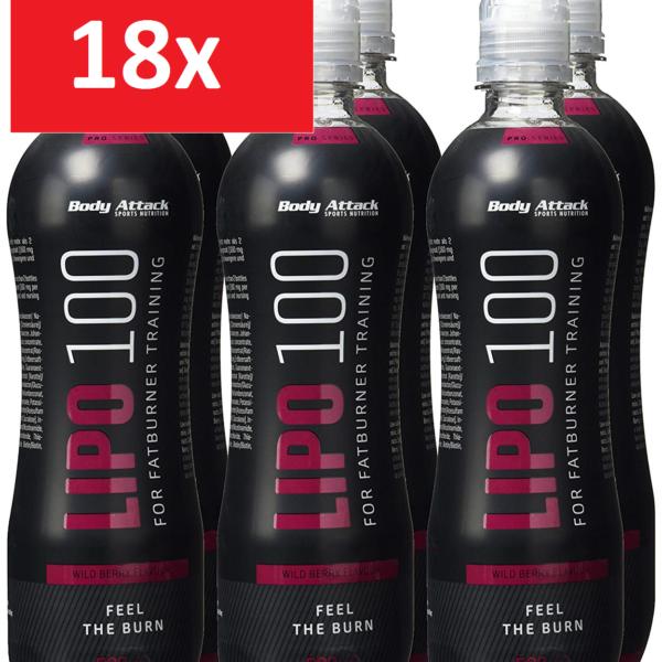 Body Attack Lipo 100 Drink - 18x 500ml