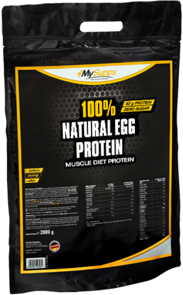 My Supps 100% Natural Egg Protein - 2000g - MHD WARE 02/2019
