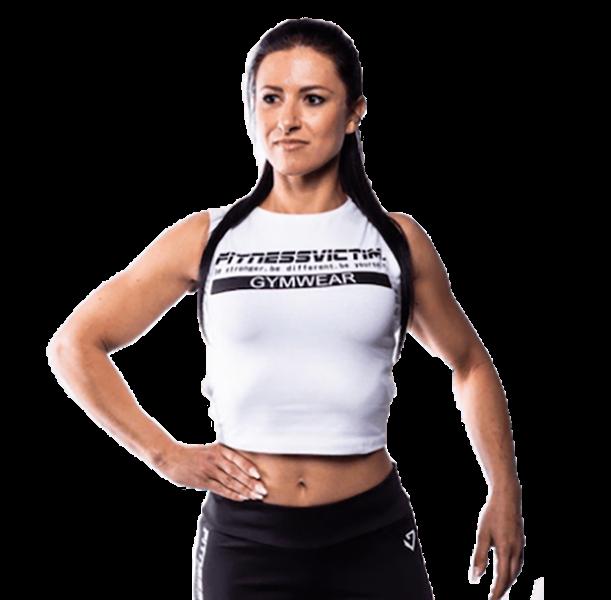 Fitnessvictim Women Backless Crop Top - weiß
