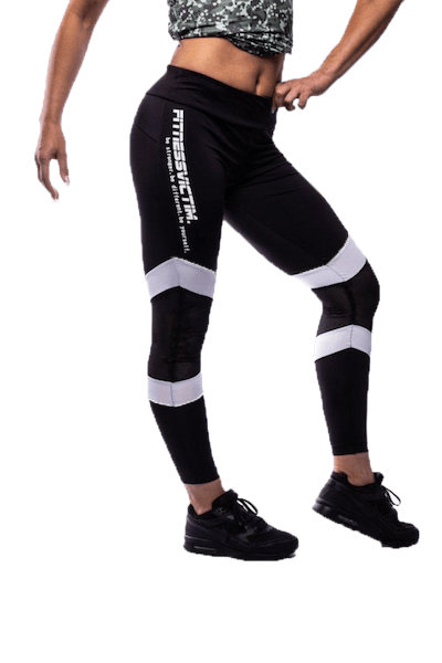 Fitnessvictim Women Killer Lines Leggings - black and white