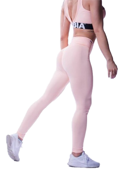 Nebbia High Wast Scrunch Butt Leggings - salmon
