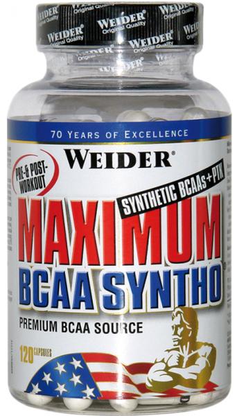 Weider Maximum BCAA Syntho+PTK - 120 Kapseln - MHD WARE 10/2020