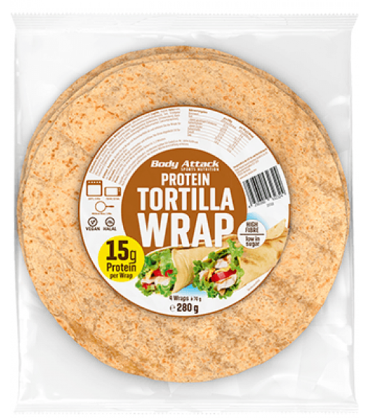 Body Attack Protein Tortilla Wraps - 280g - MHD WARE 01/2019