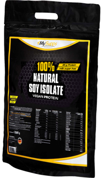 My Supps 100% Natural Soy-Isolate - 2000g - MHD WARE 03/2020