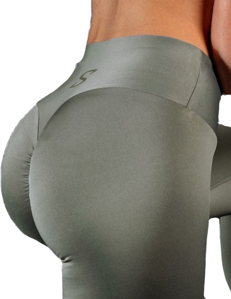 S-shaped Leggings SARA Premium Medium Compression - grey nude