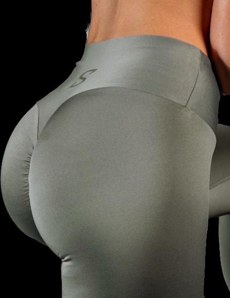 S-shaped Leggings SARA Premium Medium Compression - grey nude