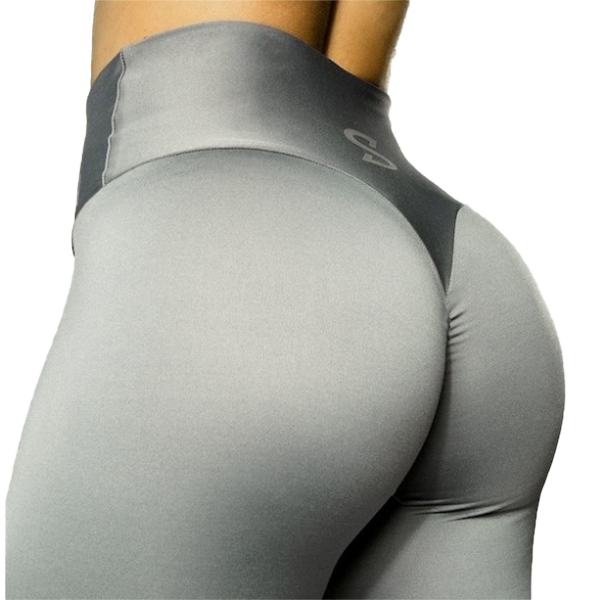 S-Shaped Leggings SARA Premium High Compression - Silver Grey