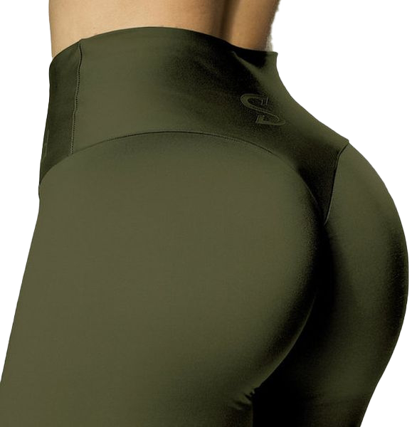 S-shaped Leggings SARA Premium Medium Compression - Olive