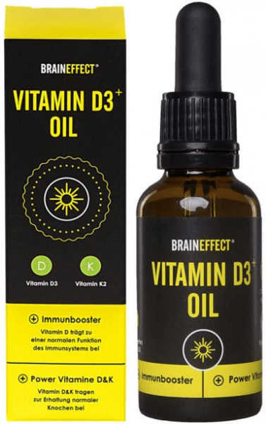 Braineffect Vitamin D3+ Oil - 20 ml - MHD WARE 05/2019
