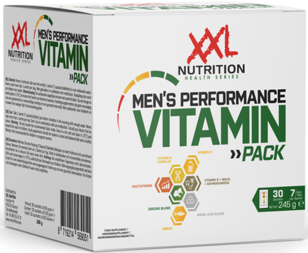XXL Nutrition Men's Performance Vitamin Pack
