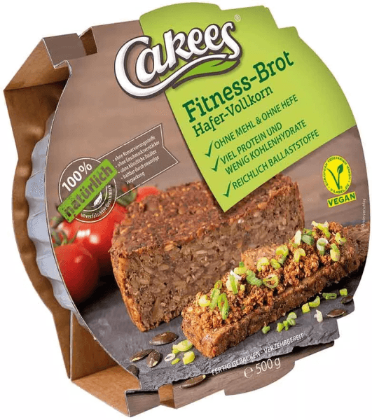 Cakees Fitness Brot Hafer-Vollkorn - MHD WARE 27.12.2020