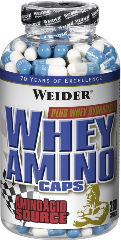 Weider Whey Amino Caps - 280 Kapseln