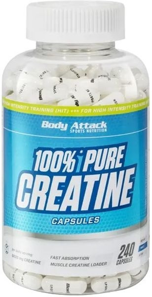 Body Attack 100% Pure Creatine - 240 Kapseln