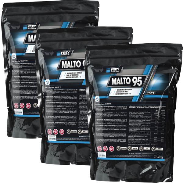 Frey Nutrition Malto 95 - 3 x 1000g Beutel