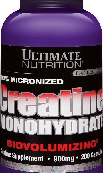 Ultimate Nutrition 100% Creatin Monohydrat - 200 Kapseln á 900mg