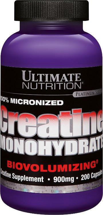 Ultimate Nutrition 100% Creatin Monohydrat - 200 Kapseln á 900mg
