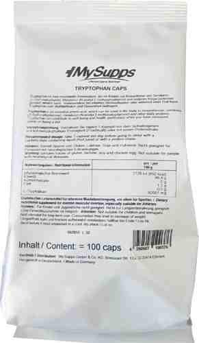 My Supps 100% L-Tryptophan - 100 Kapseln