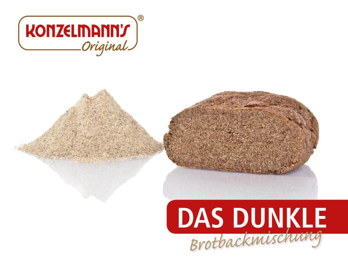 Konzelmanns Low-Carb Brot - Das Dunkle - 370g