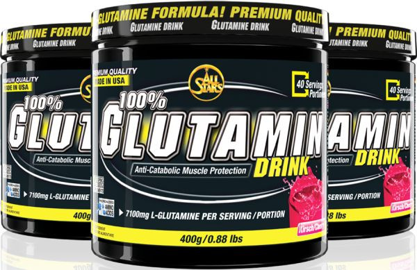 All Stars 100% L-Glutamin Drink - 400g