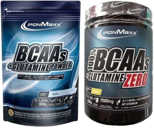Ironmaxx BCAAs + Glutamine - 500 g Dose oder 550 g Beutel