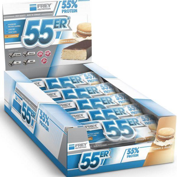 FREY NUTRITION 55er-Proteinriegel - 20x 50g