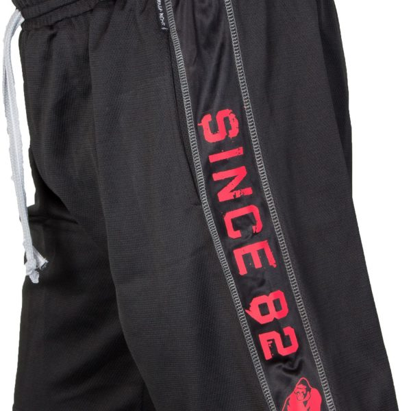 Gorilla Wear Functional Mesh Short - black red