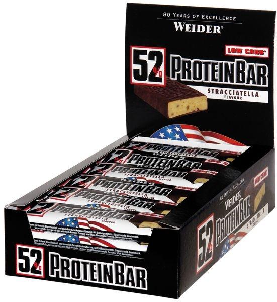 Weider 52% Protein Bar - 24 Riegel á 50g