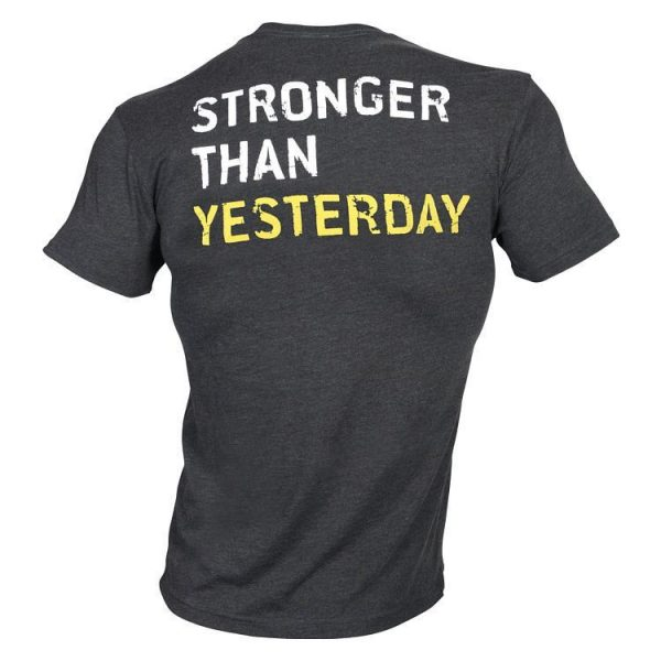 Golds Gym Stronger Than Yesterday Tee - Dark Grey