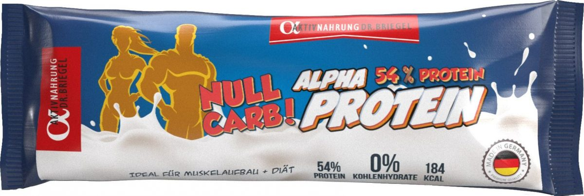 Alpha Aktivnahrung Real-Protein ZERO CARB - 50g Riegel