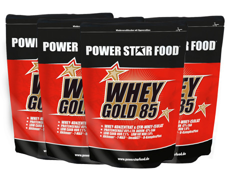 Powerstar Whey Gold 85 - 4x1000g