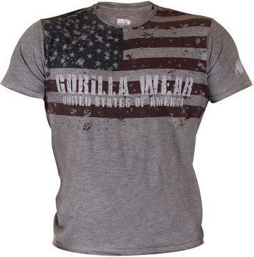 Gorilla Wear USA Flag Tee - grau