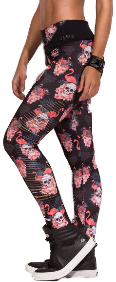 LaBellaMafia Ripped Flamingo Leggings