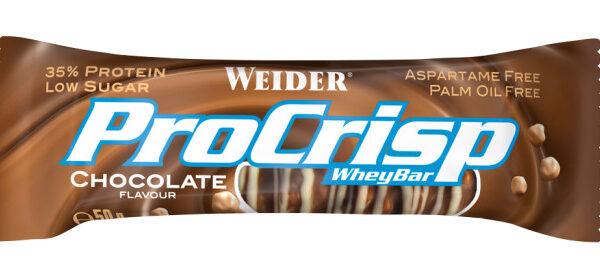 Weider Pro Crisp Whey Bar - 50g Riegel