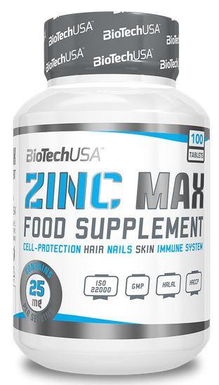 BioTechUSA Zinc Max - 100 Tabletten