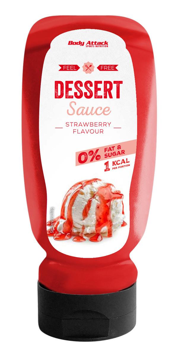 Body Attack Dessert Sauce Erdbeere - 320ml