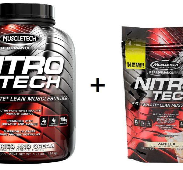 MuscleTech Nitro Tech - 1800g + 454g Beutel GRATIS