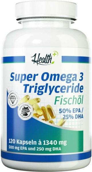 Health+ Super Omega 3 Triglyceride - 120 Kapseln