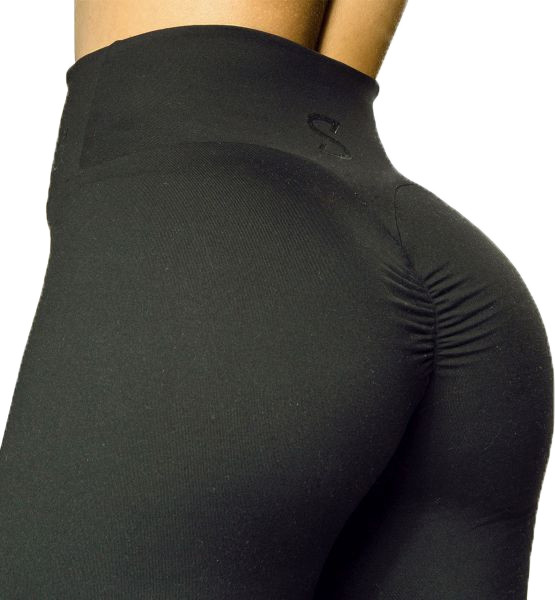 S-shaped Leggings | Squat Proof Sara Basic 2.0 - Schwarz
