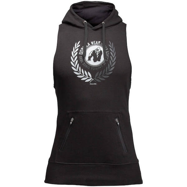 Gorilla Wear Manti Sleeveless Hoodie - schwarz
