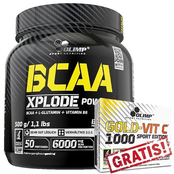 Olimp BCAA Xplode Powder - 500g + Gold-Vit C 1000 Sport Edition - 60 Kapseln GRATIS!