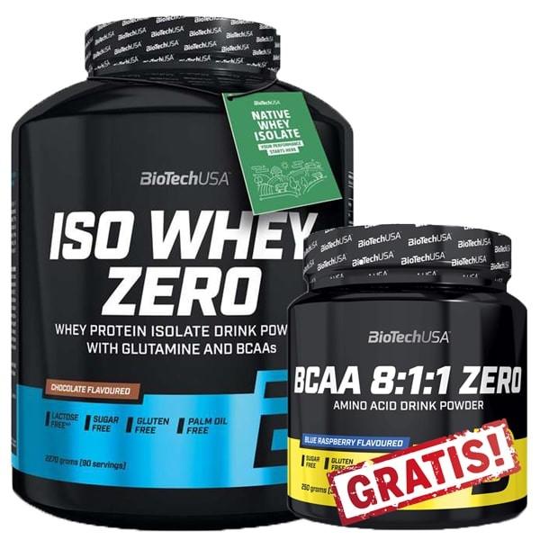 BioTechUSA Iso Whey Zero - 2270g + BCAA 8:1:1 250g GRATIS!