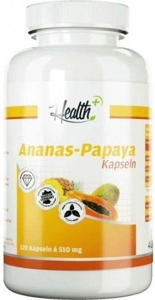 Health+ Ananas Papaya Enzyme - 120 Kapseln - MHD WARE 23.01.2020