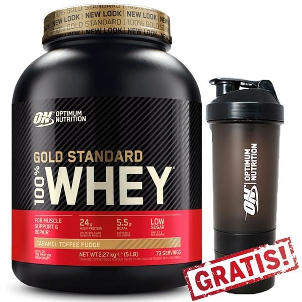 Optimum Nutrition 100% Whey Protein Gold Standard - 2270g + Shaker Gratis!