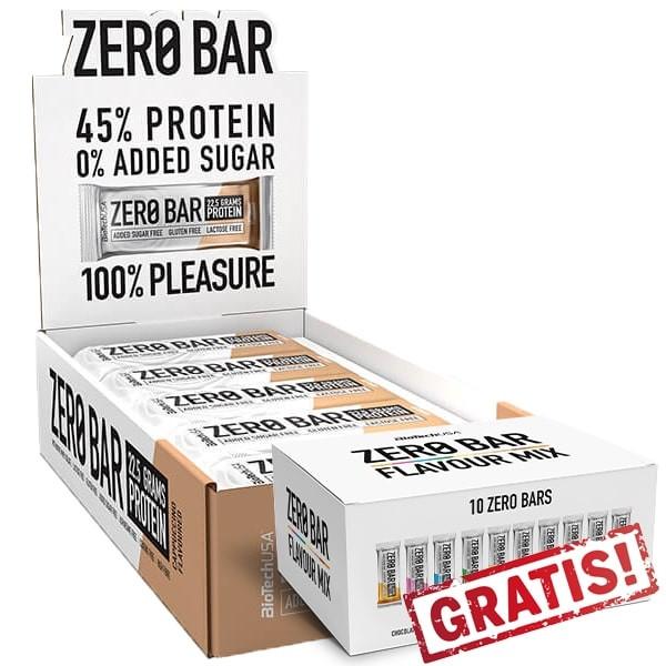 BioTechUSA Zero Bar 20 x 50g + Kit Zero Bar Flavour Mix (10 x 50g) GRATIS!