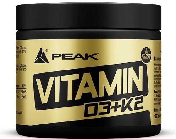 Peak Vitamin D3+K2 - 120 Tabletten