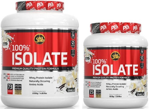 All Stars 100% Whey Protein Isolate - 900g bis 2200g