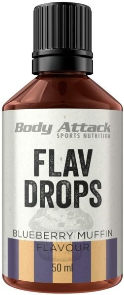 Body Attack Flav Drops - 50ml - MHD WARE 12/2020