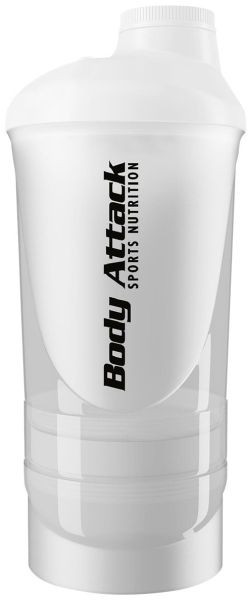 Body Attack Shaker Shakeone 600 ml - White